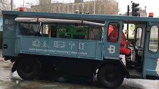 A converted milk float is now helping to clean Bristol city centre's streets
