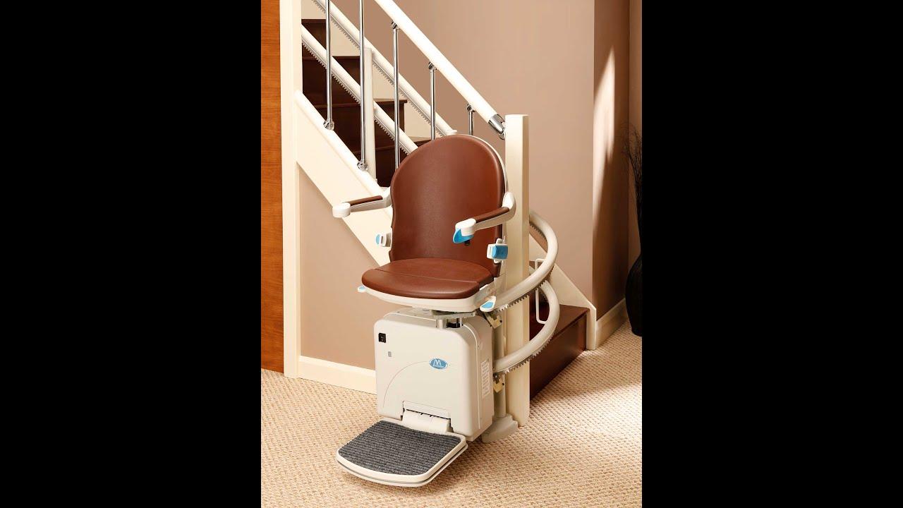 Kurven-Treppenlift (innen) gebraucht – HANDICARE 2000