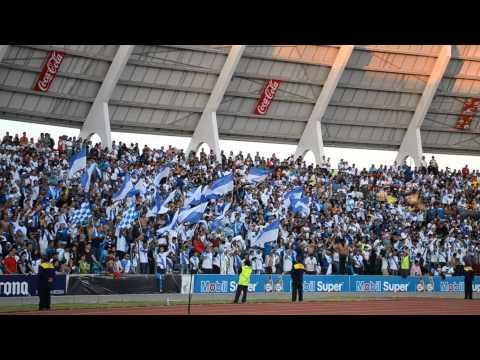 """""""¡Puebla no se va!"""" Barra: Malkriados • Club: Puebla Fútbol Club"""