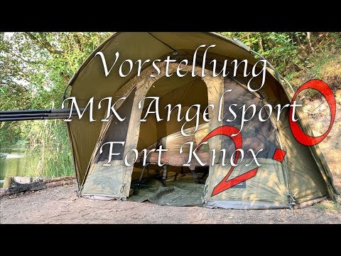 Angelzelt Test | Elbe Fishing Team | MK Angelsport Fort Knox 2.0 | Karpfenzelt