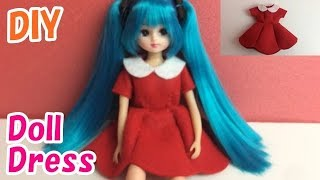 DIY Felt Doll Dress (ドール用ワンピース)