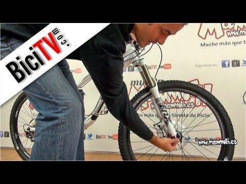 El rebote de la suspensión de la bicicleta