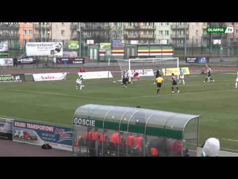 Bramki z meczu Olimpia Grudziądz - Stomil Olsztyn 3:0