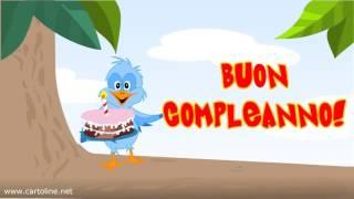 Uccellino sbadato fa gli auguri di Buon Compleanno   Cartoline net