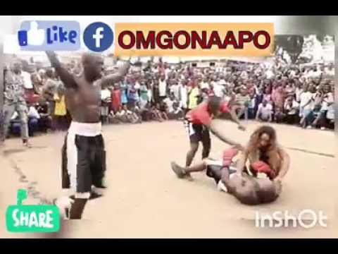 Lilwin fights Bukom Banku in a boxing match