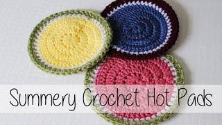 Summery Crochet Hot Pads | Beginner Friendly! | Sewrella