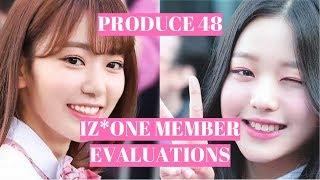 Produce 48 - IZONE member evaluations!