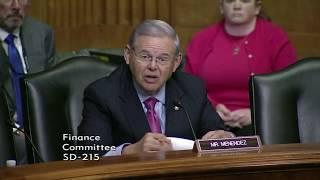Menendez Grills Treasury Secretary Mnuchin on Budget, Tax Reform & Healthcare