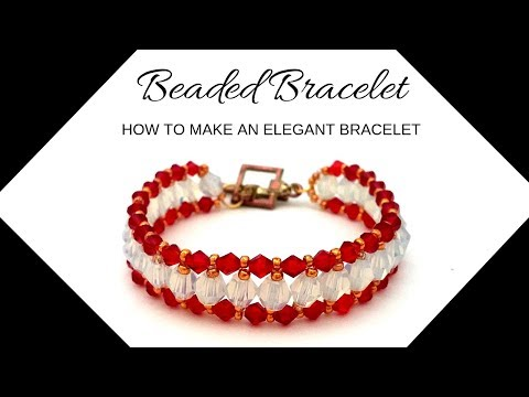 DIY Beaded bracelet. How to make an elegant bracelet. Beading tutorial
