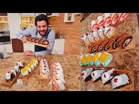 المطعم مع الشيف محمد حامد | سويسرول الكريمة - سويسرول الشوكولاتة - سويسرول المربى - سويسرول اللوتس