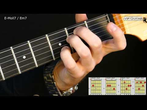 Gitarrenakkorde: E-Moll7 Akkord / Em7 chord