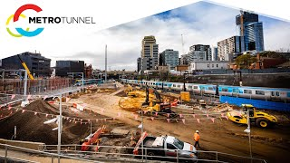 Metro Tunnel works in the Sandringham Rail Corridor