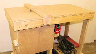 Mobile Router Station and Workbench, Simple and Heavy Duty