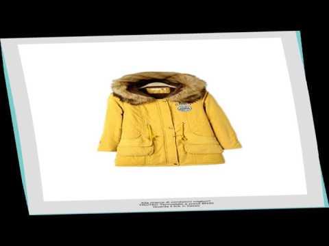 Giacca Casual caldo Parka donna con cappuccio di pelliccia del Faux Yellow L