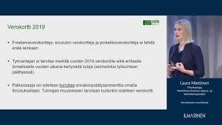 Tietoa ja työkykyä -webinaari: Verotuksen muutokset
