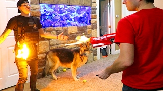 INSANE FLAMING NERF FIRE!!