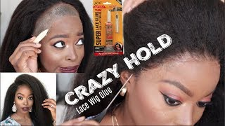 This CRAZY HOLD Lace Glue has my Edges SNATCHED! Start to Finish Detailed Natural Lace Wig Install