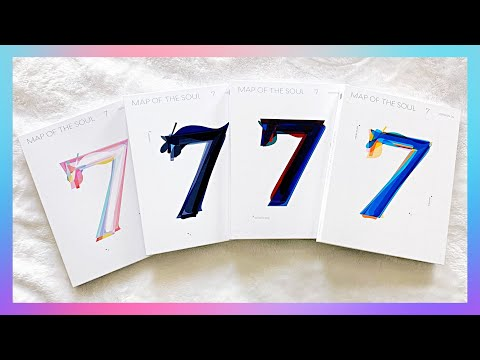 😍✨💙A Bias Wrecking Unboxing of BTS 방탄소년단 Map Of The Soul : 7 (Ver 1,2,3,4)