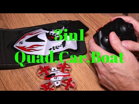 Eachine E015 3in1 Quad Car Boat Review