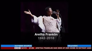 Aretha Franklin passes away (1942 - 2018) (USA) - BBC News - 16th August 2018