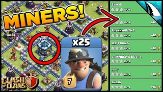 Wow! Miners are so strong at Town Hall 13! | Clash of Clans