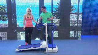 newgen medicals 2in1-Laufband mit Vibrations-Trainer