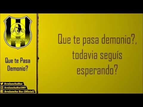 """Avalancha Sur - Que te Pasa Demonio / Letra"" Barra: Avalancha Sur • Club: Deportivo Táchira"