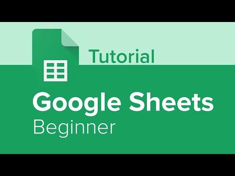 Google Sheets Beginner Tutorial