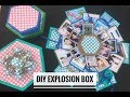 How to make Explosion Box| Hexagon Explosion Box| Exploding Box | DIY Explosion Box| Soumya Dubey