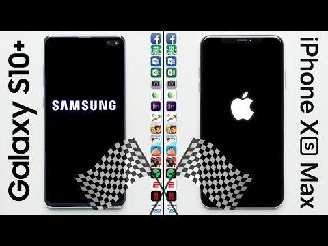 Galaxy S10+ vs. iPhone XS Max Speed Test