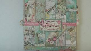 Stamperia Wonderland 7x7 Mini Album Tutorial Part 1: Creating The Book, Binding And Pocket Pages