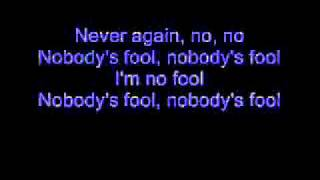 Cinderella - Nobody's Fool (Lyrics)