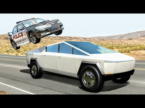 Crazy Police Chases #99 - BeamNG Drive Crashes