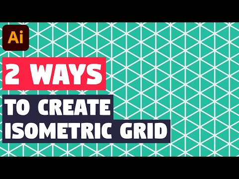 Isometric grid   Illustrator CC tutorial (2 EASY WAYS!)