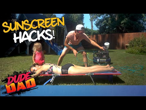 Hilarious Sunscreen Hacks! | Dude Dad