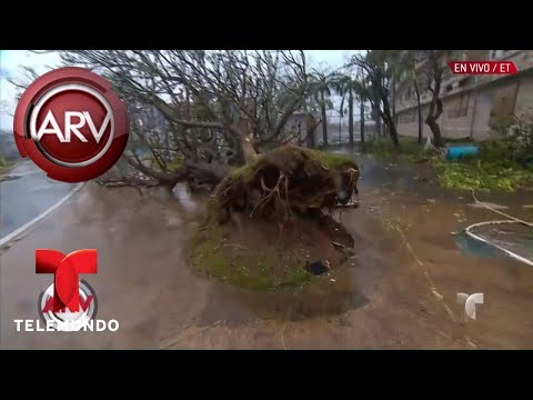 San Juan contempla los primeros destrozos de María | Al Rojo Vivo | Telemundo
