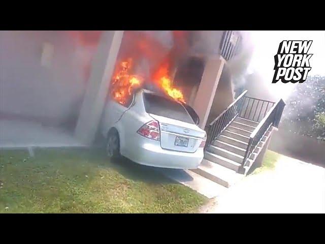 رجل يلقى حتفه بعد تعمده صدم منزل صديقته السابقة بسيارة محملة بالغاز