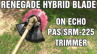 Renegade brush blade and Echo trimmer conversion kit installation - review