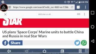 WW3 U.S STAR WARS PROGRAM/SPACE CORPS MARINES IN SPACE