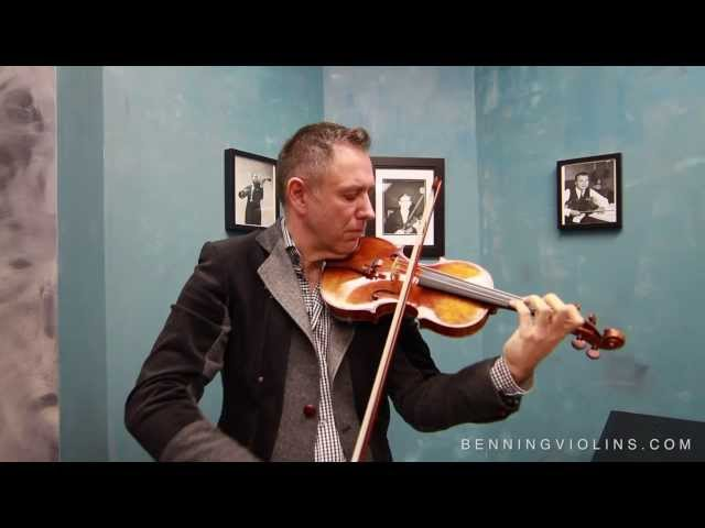 Violinist Henry Gronnier Discusses Benning Violins