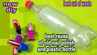 diy-best-out-of-waste-plastic-bottle-and-nail-polish-craft-idea-reuse-idea