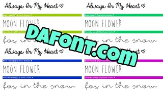 How To Download Free Fonts From Dafont.com