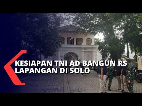 Kesiapan TNI AD Bangun RS Lapangan Covid-19 di Solo