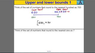 Upper & Lower Bounds 1