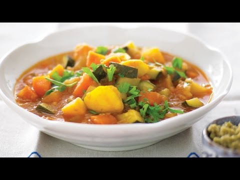 Video Slow Cooker Winter Vegetable Soup | One Pot Chef