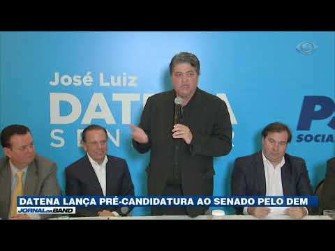 Datena lança pré-candidatura ao Senado pelo DEM.