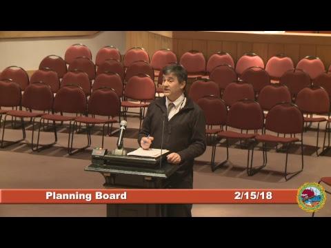 Planning Board 2.15.18