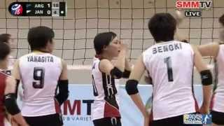 Argentina - Japan [Set 2] Girls' U18 World Championship 27-07-2013
