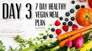 DAY 3 of the 7 DAY HEALTHY VEGAN MEAL PLAN