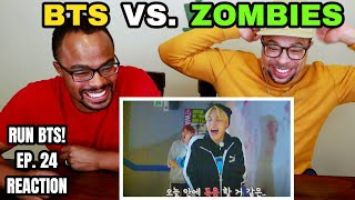 RUN BTS EP. 24 REACTION | BTS VS. ZOMBIES‼😱(FULL EPISODE)